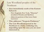 late woodland peoples of the northeast