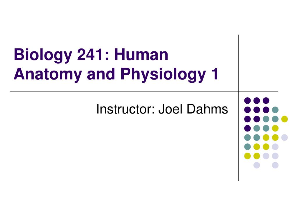 biology 241 human anatomy and physiology 1 l.
