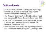 optional texts