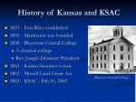 history of kansas and ksac