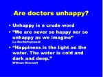 are doctors unhappy