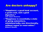 are doctors unhappy1