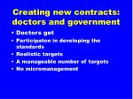 creating new contracts doctors and government1