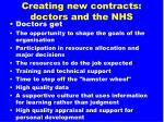 creating new contracts doctors and the nhs1