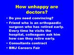 how unhappy are doctors
