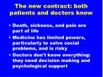 the new contract both patients and doctors know
