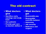 the old contract