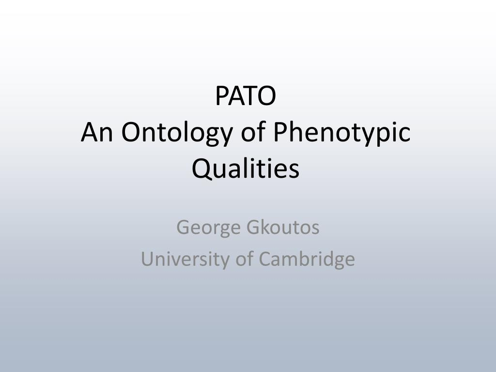 pato an ontology of phenotypic qualities l.