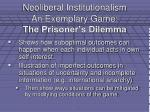neoliberal institutionalism an exemplary game the prisoner s dilemma