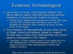 evidence archaeological