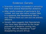 evidence genetic31