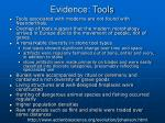 evidence tools