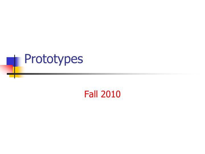 prototypes n.