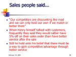 sales people said