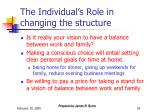 the individual s role in changing the structure