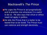 machiavelli s the prince