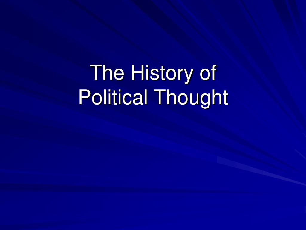 the history of political thought l.