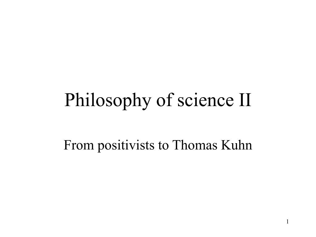 philosophy of science ii l.