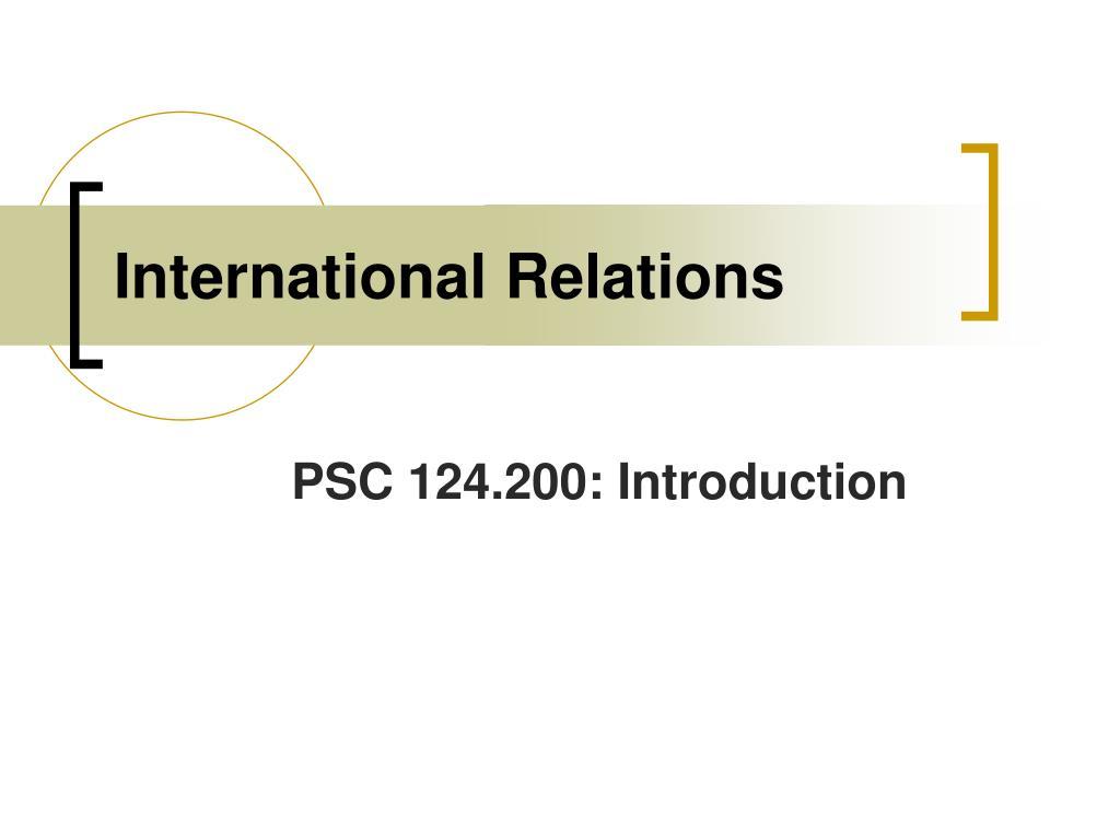 international relations l.