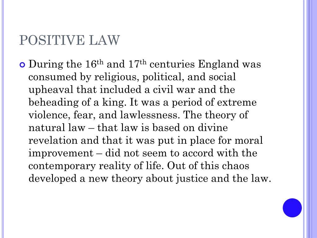 positive law l.