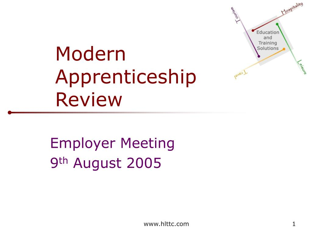 modern apprenticeship review l.