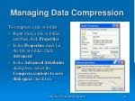 managing data compression25