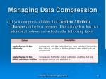 managing data compression26