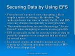 securing data by using efs31