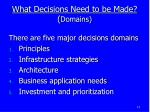what decisions need to be made domains