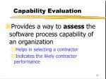 capability evaluation