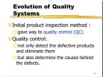 evolution of quality systems23
