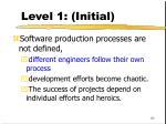 level 1 initial89