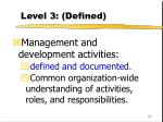 level 3 defined