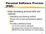 personal software process psp112