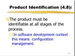 product identification 4 8