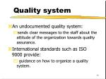 quality system19