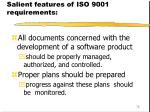 salient features of iso 9001 requirements