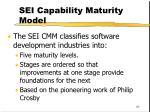 sei capability maturity model86
