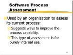 software process assessment