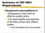 summary of iso 9001 requirements