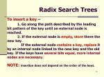 radix search trees13