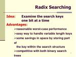 radix searching
