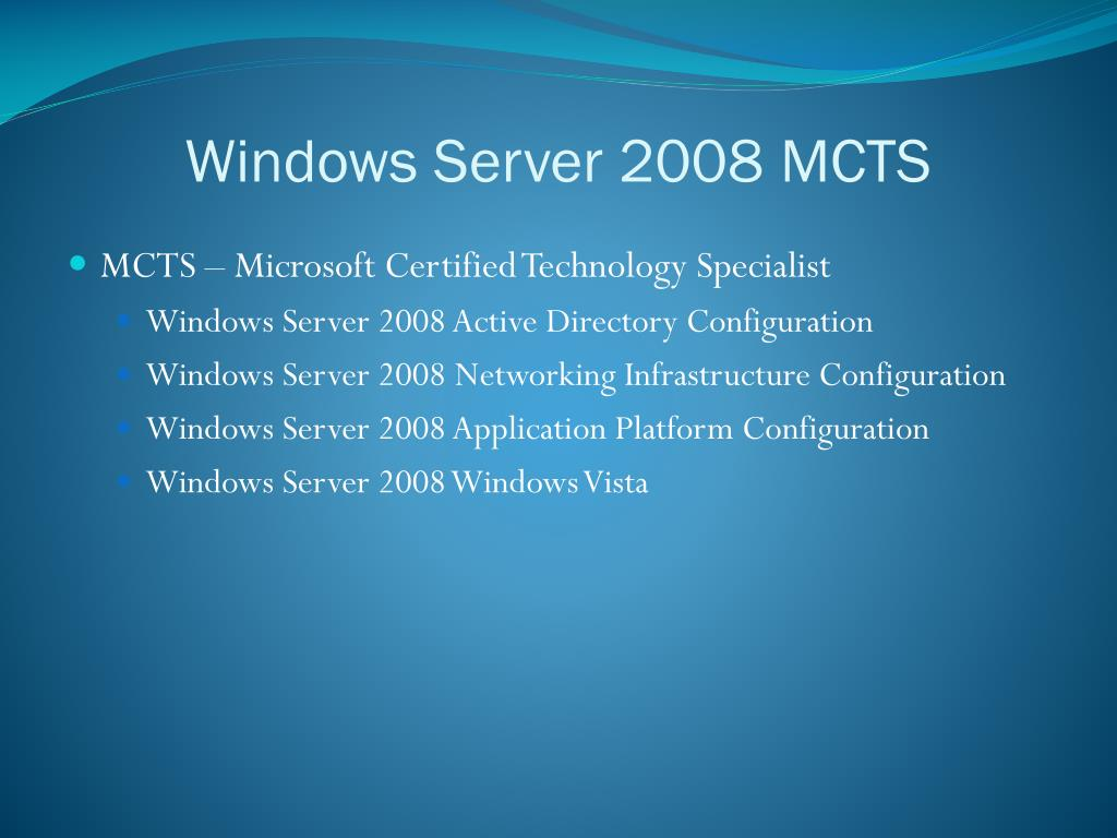 Windows Server 2008 MCTS