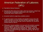 american federation of laborers afl
