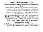 conversion 1491 1521