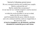 instead of obtaining greater peace