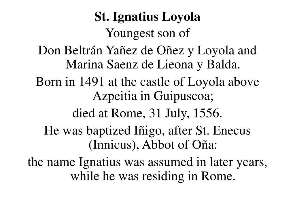 st ignatius loyola l.