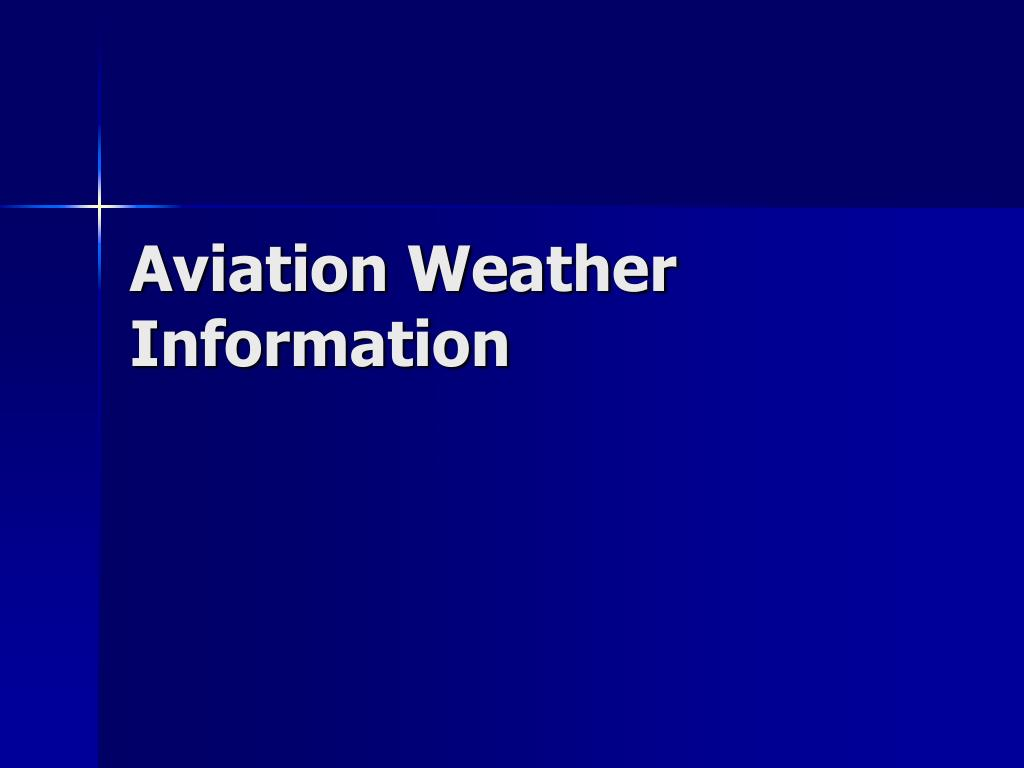 aviation weather information l.