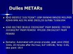 dulles metars