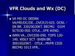 vfr clouds and wx dc